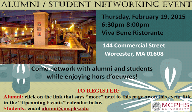 Worcester Alumni/Student Networking Event