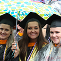 Raining Degrees at MCPHS Commencement Ceremony