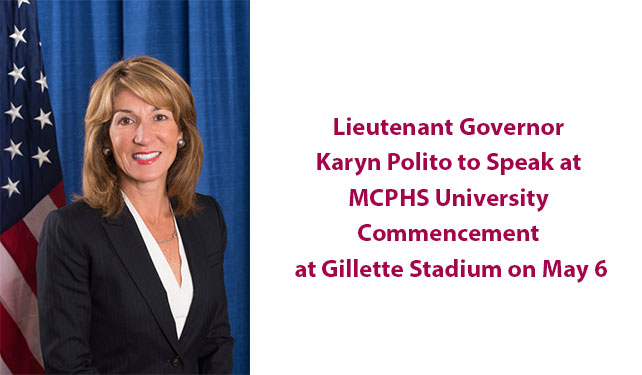 Lieutenant Governor Karyn Polito to Speak at MCPHS University Commencement  at Gillette Stadium on May 6